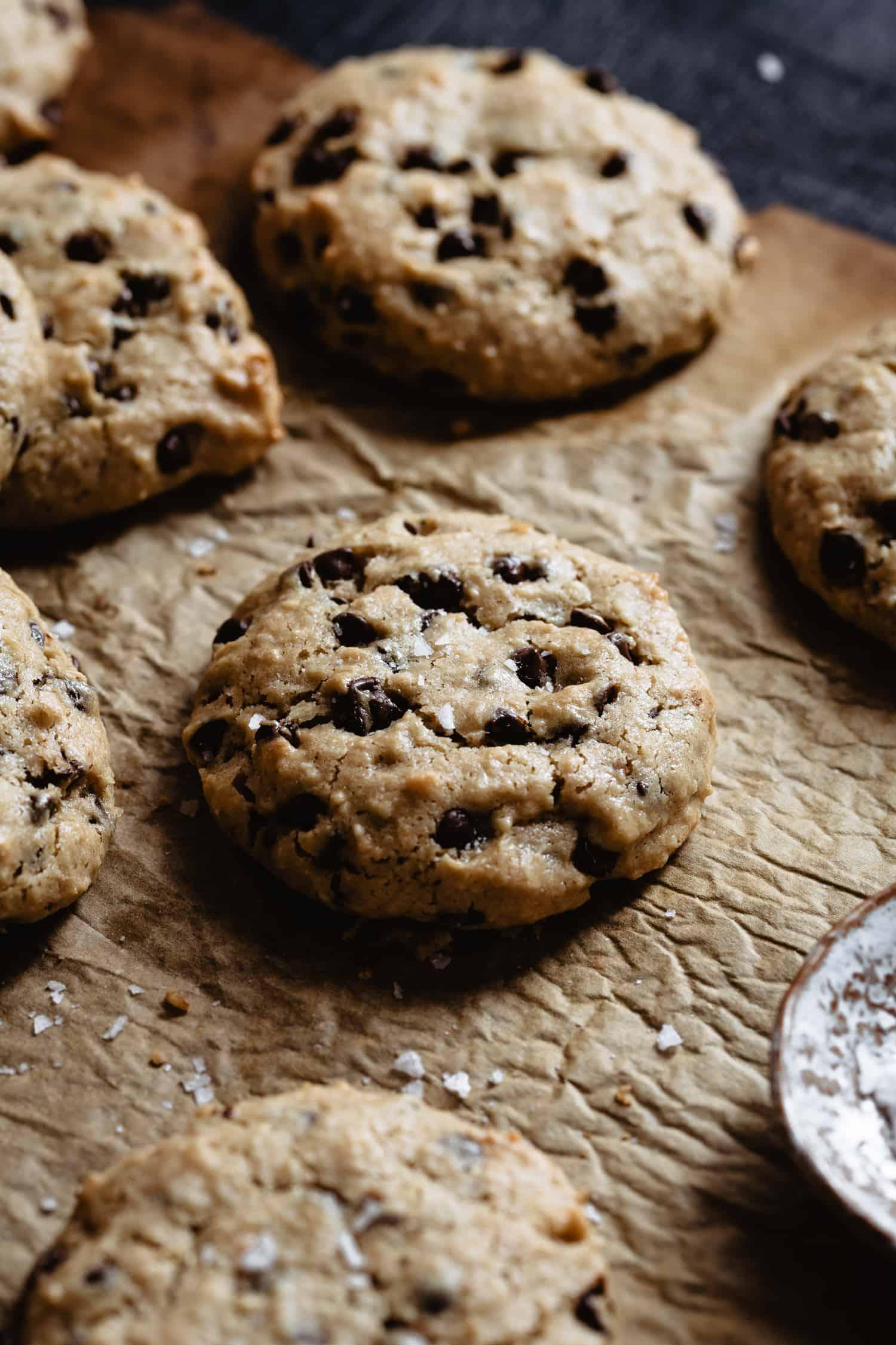 Life changing tahini chocolate chip cookies.